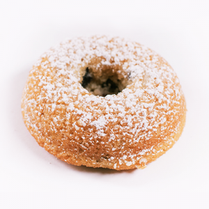 Powdered Sugar Blueberry Donut