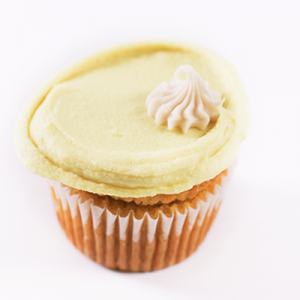 Vegan Vanilla Cupcake with Lemon Frosting