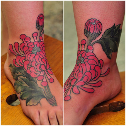 Chrysanthemum Cover Up Tattoo