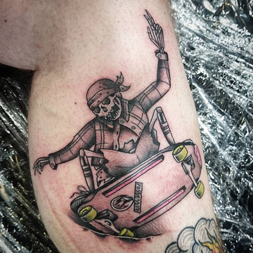 Old School Skateboarding Tattoo