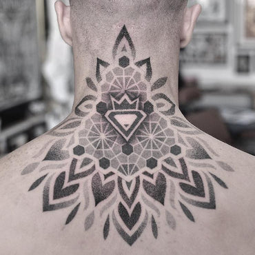 Dotwork Neck Tattoo - Vic Market Tattoo