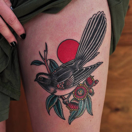 Wagtail Bird Tattoo