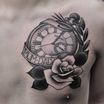 Classic Pocket Watch Tattoo