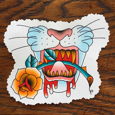 Kane Berry Panther Tattoo Flash