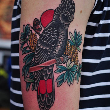 Black Cockatoo Tattoo by Mark Lording