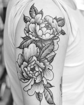 Two Peony Flowers by Chris Jones