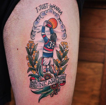 AFL Tattoo By Mark Lording