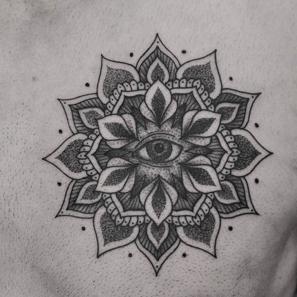 Chest Mandala Tattoo By Chris Jones
