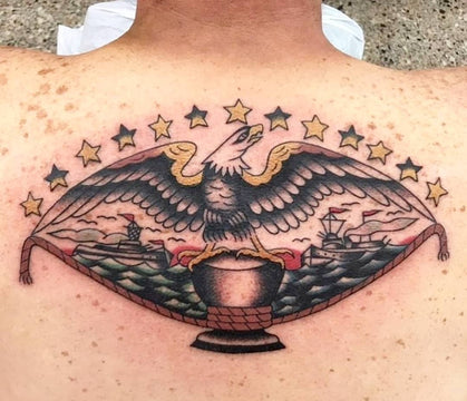 Nautical Eagle Tattoo By Lachie Grenfell