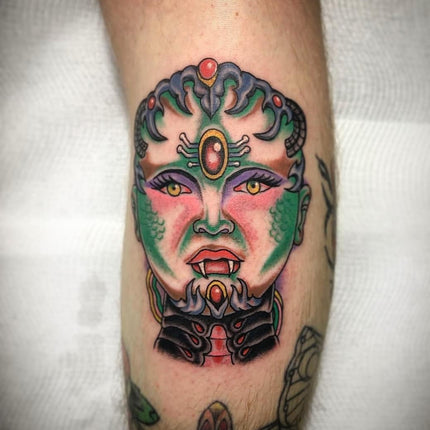 Cyborg Disney Princess Tattoo