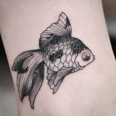 Fineline Goldfish Tattoo by Wade Johnston
