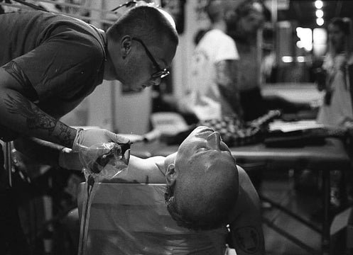Lachie Grenfell Tattooing At Rites of Passage Tattoo Festival
