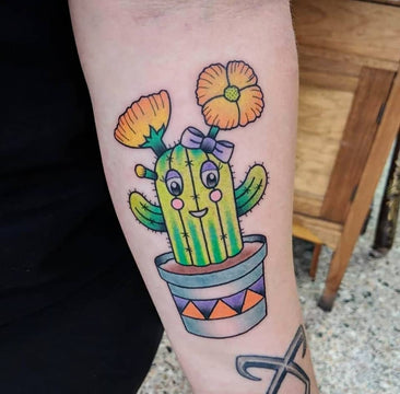 Cute Cactus Tattoo By Melbourne Tattoo Artist Kane Berry