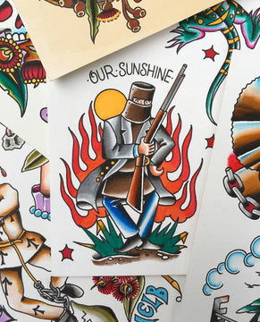 Australiana Tattoo Flash By Mark Lording