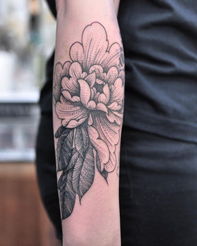 Cover Up Peony Tattoo By Chris Jones