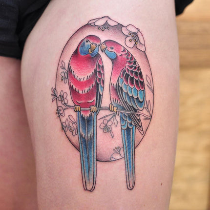 Love Birds Tattoo By Pablo Morte