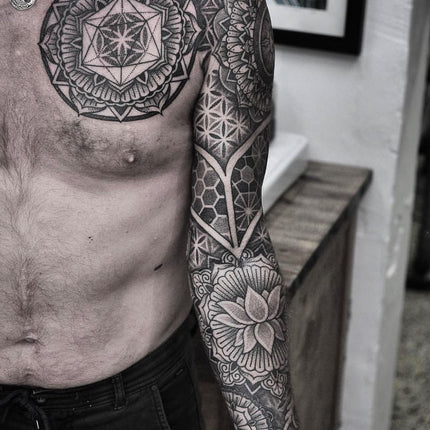 Geometric sleeve Tattooed By Chris Jones