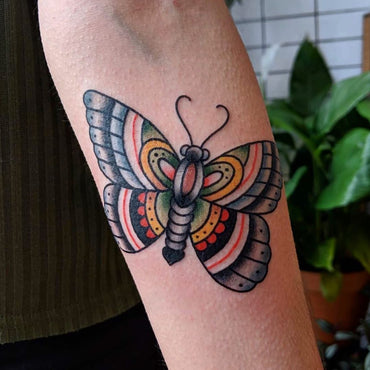 Traditional Butterfly Tattoo By Kane Berry