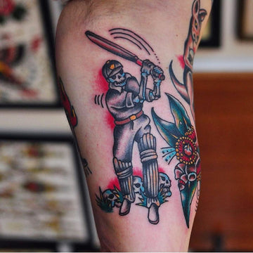 Australian Cricket Tattoo By Mark Lording