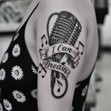 Ribbon Microphone Tattoo By Lachie Grenfell
