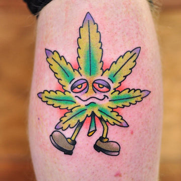 420 Weed Leaf Tattoo By Melbourne Tattooist Kane Berry