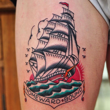 Classic Sailor Jerry Design Tattooed by Lachie Grenfell
