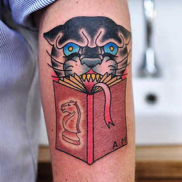 Book smart Panther Tattoo By Kane Berry