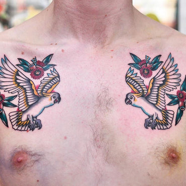 Australian Cockatoo Chest Tattoos By Mark Lording