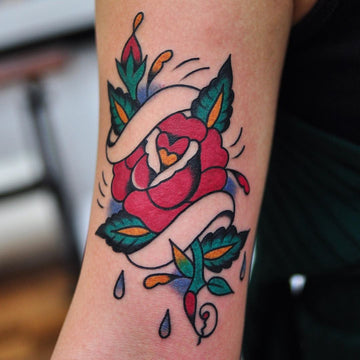 Traditional Rose Tattoo By Lachie Grenfell