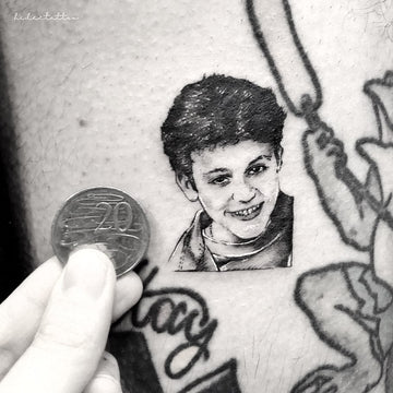 Micro Realism Portrait Tattoo By Tattooist Deanna Lee