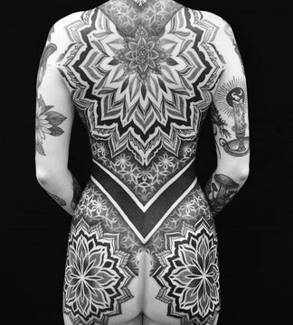 Large Mandala Back Piece Tattoo By Chris Jones