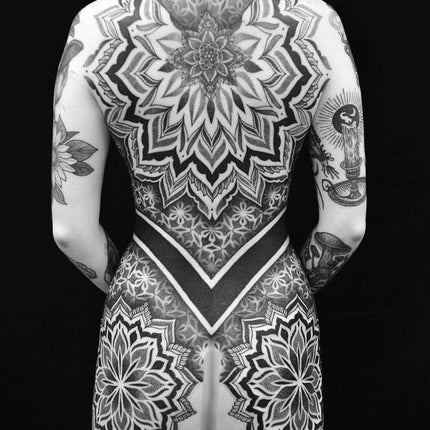 Large Mandala Back Piece Tattoo - Chris Jones