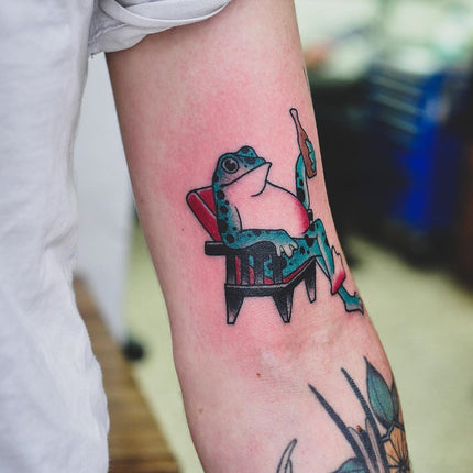 Frog Flash Tattoo - Wade Johnston