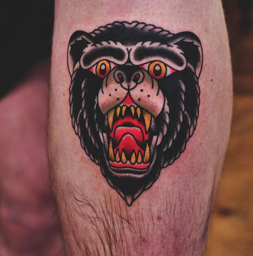 Traditional Bear Head Tattoo - Kane Berry
