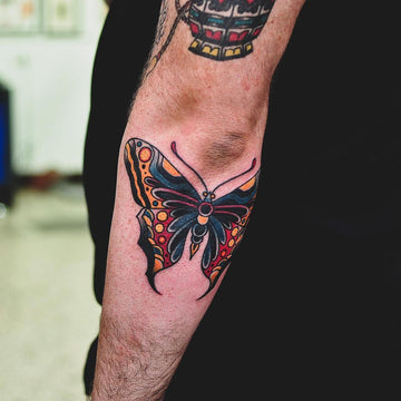 Traditional Butterfly Tattoo - Wade Johnston