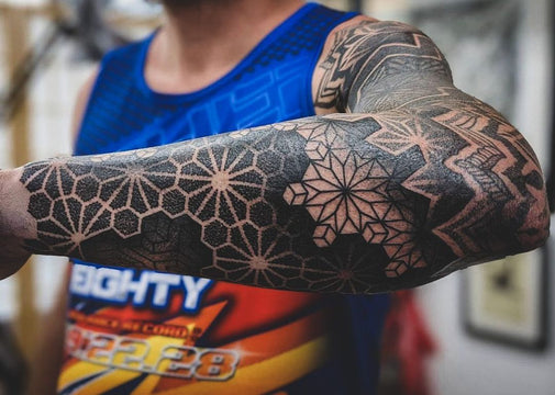 Dotwork Geometric Sleeve - Chris Jones