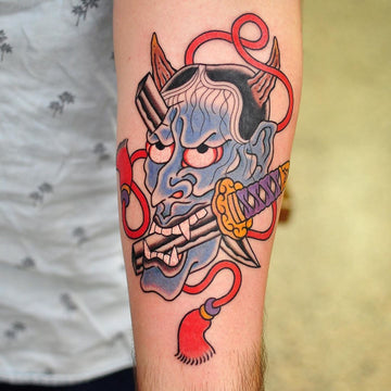 Japanese Hannya Mask Tattoo - Lachie Grenfell
