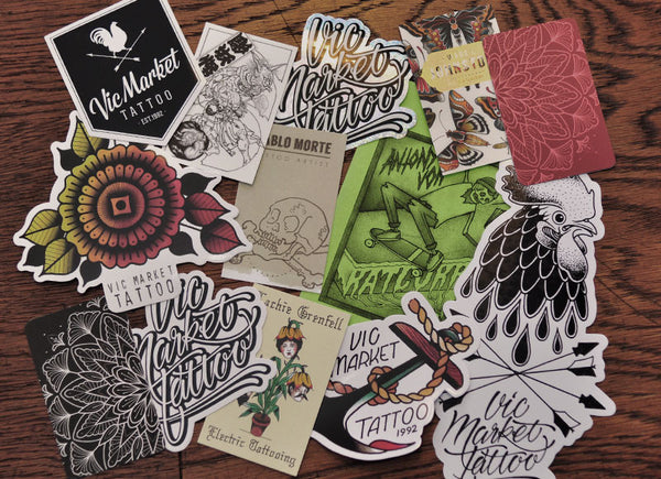 Sticker and Business Card Pack - Vic Market Tattoo