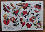 Heart Breaker - Tattoo Flash Sheet - Wade Johnston