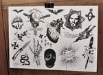 Integrity - Tattoo Flash Sheet - Wade Johnston