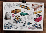 Kerser / Campbelltown - Tattoo Flash Sheet - Wade Johnston