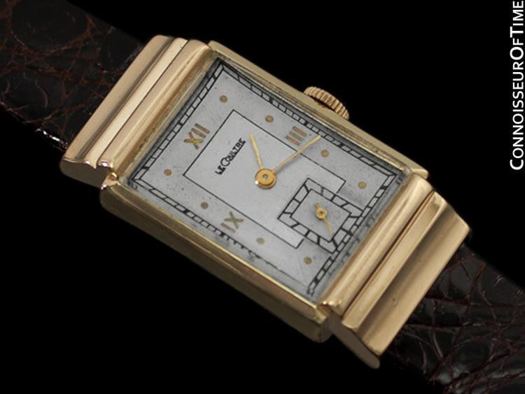 005872e15d61 1945 Jaeger-LeCoultre Vintage Mens Rectangular Watch