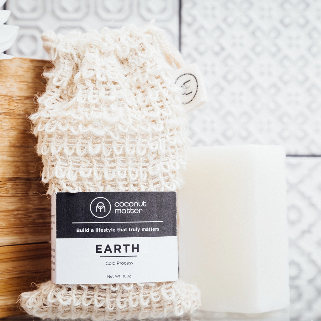 EARTH椰子麝香手工皂|EARTH Virgin Coconut Oil Soap & Bag