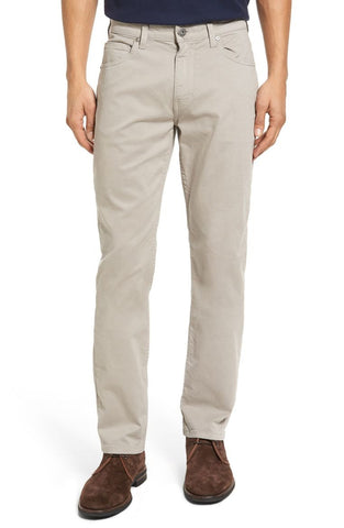 grey straight leg twill pants made in the usa