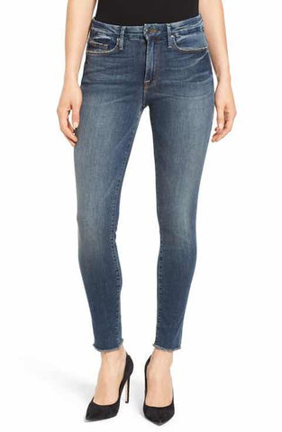 good american high rise skinny jeans made in the usa Cinnia Boutique