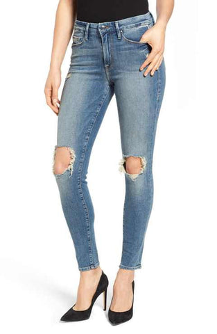 good american ripped skinny jeans made in the usa Cinnia Boutique