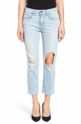 good american ripped boyfriend jeans made in the usa Cinnia Boutique