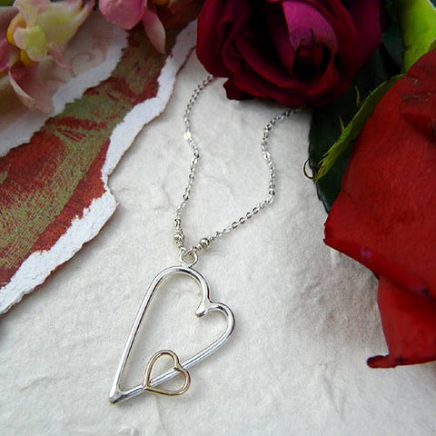 heart necklace made in usa