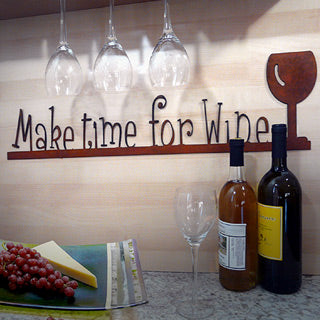make time for wine metal sign made in usa