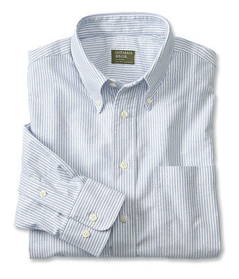 blue stripe oxford mens shirt made in the usa